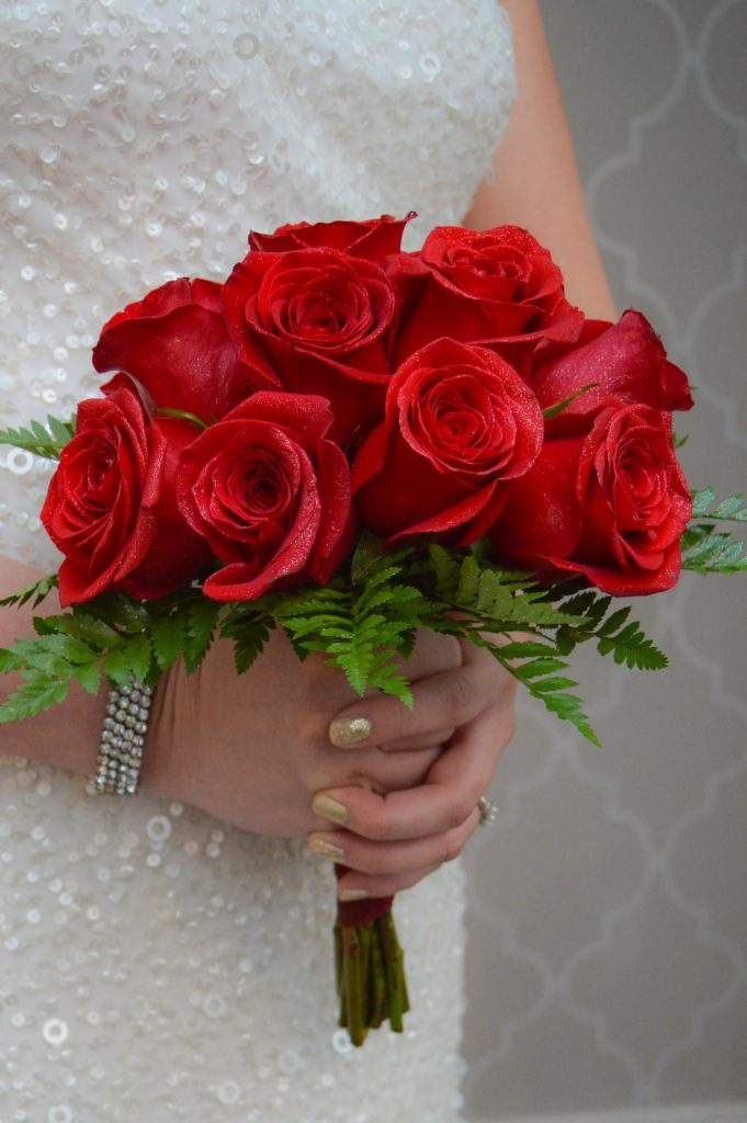 Red Rose Brides Bouquet
