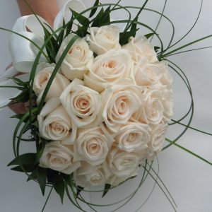 White Rose Brides Bouquet